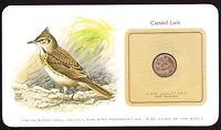 Crested Lark 1975 San Marino Coin on Bird Preservation Card Birds Oiseau