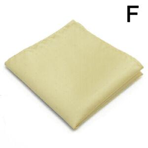 Men's Pocket Square Handkerchief Polka Dot Solid Hanky Suit Chest Towel