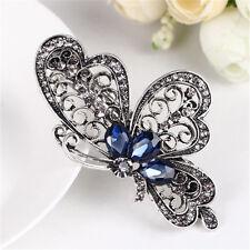New Women's Beautiful Butterfly Hair Accessory Blue Crystal Rhinestone Jewelry