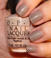 Nails WRAPS Nail Art Water Transfers Decals Black Lace Fishnet Nail Tips Y795