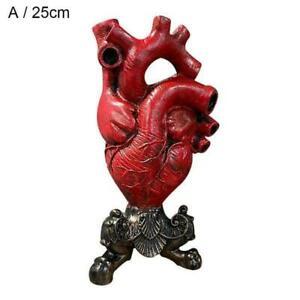 Anatomical Heart Vase Resin Flower Pot Desktops Ornaments Table  Home Decor