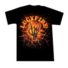 Heavy Metal T Shirt Lucyfire Knochen Hand