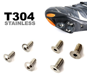 Pedal Cleat Bolts Screws - Rust Proof Stainless Steel