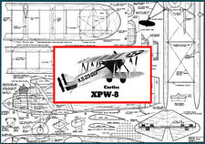 """Model Airplane Plans (UC): Curtiss XPW-8 Scale 32"""" for .19-.49 (Musciano)"""