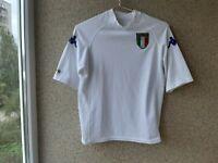 Italy Away football shirt 2000/2001 Jersey Size XS Kappa White Soccer Vintage