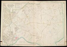1900 MIDDLESEX COUNTY, NEWTON, MASSACHUSETTS CLARK ST TO CHARLES RIVER ATLAS MAP