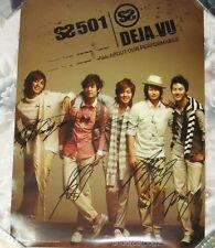 Korean SS501 DEJA VU 2009 Taiwan Promo Autograph Poster