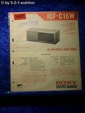 Sony Service Manual ICF C16W Clock Radio (#3957)