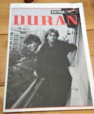 More details for duran duran fan club memorabilia - newssheet and enamel badge - 1986, rare