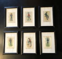 Stunning Collection of 6 Framed Antique Canadian Military Police Tobacco Silks