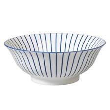 Porcelain Striped Serving Bowls