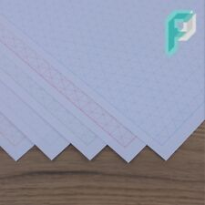 A4 Isometric Graph Paper Landscape 10mm 1cm, Choice of Colour, 5 to 100 Sheets