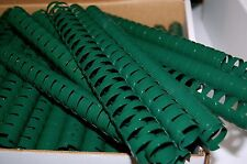 "LOT OF 10 GREEN 7/8"" BINDING COMBS 19 Ring Plastic Book Spines ROUND 175 Sheet"