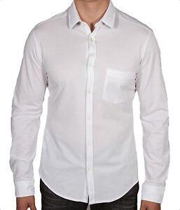 Hugo BOSS Green Biddy White Men's Oxford Button Down Shirt 50295647 100 NWT