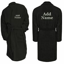 Bathrobe Personalised Name Text Message Christmas Gift Embroidered Dressing Gown