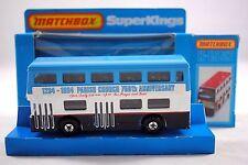 Matchbox SUPERKINGS K-15 LONDON BUS 1234-1984 CHESTERFIELD PARISH CHURCH Ann.MIB