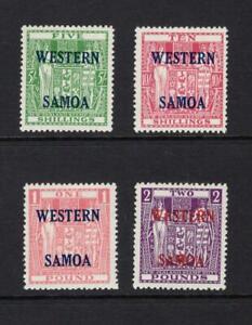 Samoa 1955 Complete Overprint Set - OG MLH - SC# 216-219  Cats $140.00