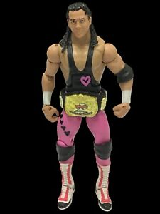 Wwe Elite Bret Hart Figure WITH TAGTEAM BELT *