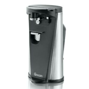 Swan 3-in-1 Hands Free Electric Can Opener, Tin & Bottle Opener & Knife Sharpner