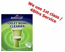 Astonish Toilet Bowl Cleaner Ideal Para PK 10 Tabletas de Limpieza durante la noche