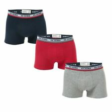 Men's Ben Sherman Cosmo 3 Pack Elastic Waist Boxer Shorts in Blue, Red, and Grey