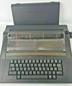 Vintage SHARP PA-3000x Electronic Electric Portable Typewriter Made in Britain