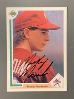 1991 Upper Deck #18 Mickey Morandini Autographed Rookie Card