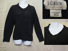 J Crew Mens Large Sweater - Cable Knit -Charcoal Gray - 80% Lambswool, 20% Nylon