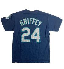 Vintage Ken Griffey Jr Seattle Mariners Cotton Tshirt Majestic Medium 24