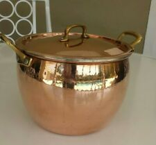 Ruffoni Hammered Copper 8 Quart Pot & Lid From Italy never used