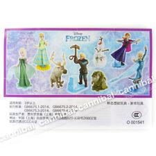 Kinder Joy Surprise Egg Frozen Fever Figurine Toys COMPLETE SET OF 8 Anna Elsa