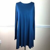 Soft Surroundings Womens Tunic Top Long Sleeve Side Split Size L *Flaws