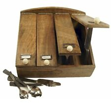 County Kitchen Rustic Wooden Four Section Cutlery Box STC781201