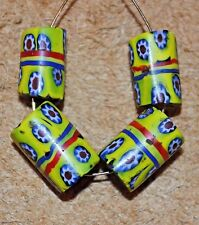 Antique Venetian Millefiori Murrine Cane Beads Center Stripes African Trade