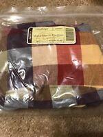 LONGABERGER Fabric Liner Only Everyday Essentials  Basket WT Everyday Plaid NIP