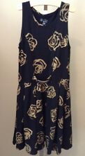 Flowers By Zoe Girls Dress Black Gold Roses Large
