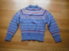Vtg  60's Abercrombie & Fitch Paul Mage Wool Nordic Ski Sweater Denmark Sz Large