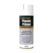 X6 Rust-Oleum PLASTICA Primer MULTI USO PREMIUM SPRAY VERNICE BIANCO MATT