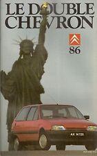 LE DOUBLE CHEVRON 86 SPECIAL CITROEN AX 24 PAGES CITROEN 2CV CROSS 1974 AX SPORT