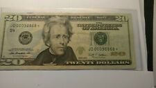 $20.00 Federal Reserve Note star Note. Low serial Number J D 00098868*