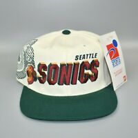 Seattle Sonics NBA Sports Specialties Shadow Vintage 90's Snapback Cap Hat - NWT