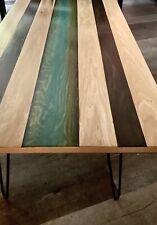 Handmade Epoxy Resin and Poplar Coffee Table
