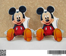 5 x 36mm NEW MICKEY MOUSE LASER CUT FLAT BACK RESIN HEADBANDS BOWS PLAQUES