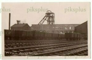 INDUSTRIAL RAILWAY POSTCARD BENTLEY COLLIERY DONCASTER E.L.S REAL PHOTO C.1910