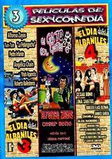 EL DIA DE LOS ALBANILES 3 Y 4, EL GATO CON GATAS 2 DVD ALFONSO ZAYAS TUN TUN NEW