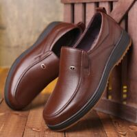 Men's Leather Casual Breathable Loafers Slip on Moccasins Driving Dress Shoes