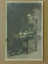 Postcard - Vintage Man Sitting on Chair, RP (P19524)
