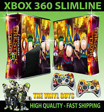 XBOX 360 SLIM SOUTH PARK STICK OF TRUTH STICKER SKIN & 2 X CONTROL PAD SKINS