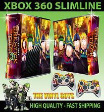 Xbox 360 Slim South Park Stick Of Truth Sticker Skin & 2 X Control Pad Skins