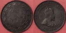 Fine 1904 Canada Large 1 Cent
